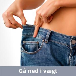 gå ned i vægt
